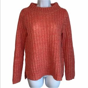 Field Flower for Anthro Coral Wool Blend Sweater S